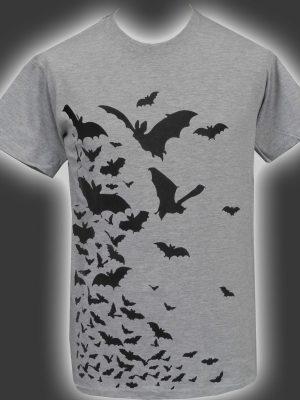 Vampire Bats Grey Mens T-Shirt