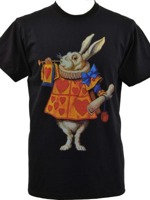 Alices Adventures In Wonderland White Rabbit Mens T-Shirt