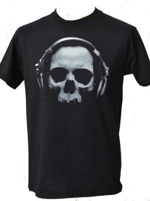 Skull With Headphones Mens T-Shirt