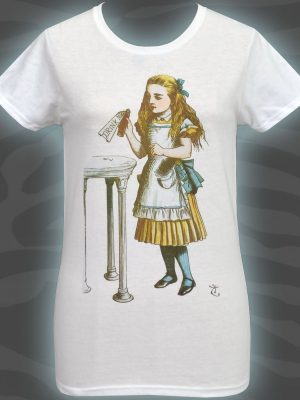 Alice's Adventures Drink Me Ladies White T-Shirt