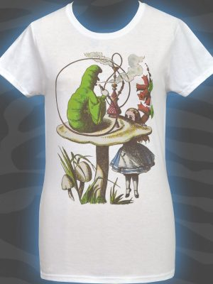 Alice's Adventures Caterpillar Ladies White T-Shirt
