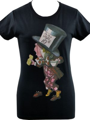 Alice's Adventures Mad Hatter Ladies T-Shirt