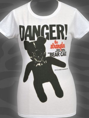 The Stranglers Bear Cage Ladies White T-Shirt