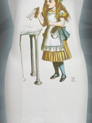 Alice's Adventures In Wonderland Drink Me White Dress
