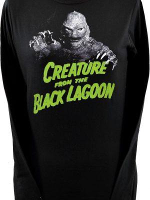 Creature From Black Lagoon Ladies Black Long Sleeve Top