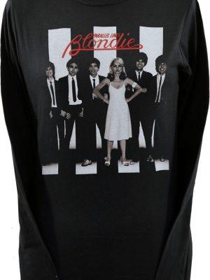 Blondie Parallel Lines Black Long Sleeve Top