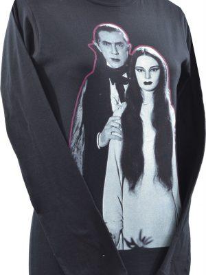 Bela Lugosi And Carroll Borland Black Long Sleeve Top