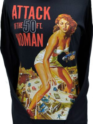 Attack Of The 50ft Woman Black Long Sleeve Top