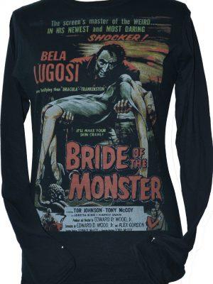 Bride Of The Monster Black Long Sleeve Top
