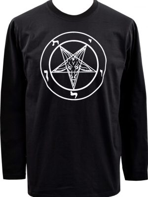 Baphomet Pentagram Mens Long Sleeve Top
