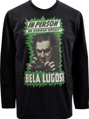 Bela Lugosi Mr Horror Mens Long Sleeve Top