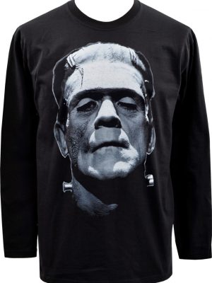 Boris Karloff As Frankenstein's Monster Mens Long Sleeve Top