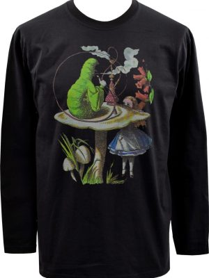 Alice In Wonderland Caterpillar Mens Long Sleeve Top