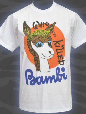 Who Killed Bambi White Mens T-Shirt