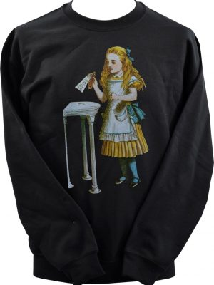 Alice In Wonderland Drink Me Bottle Unisex Sweatshirt
