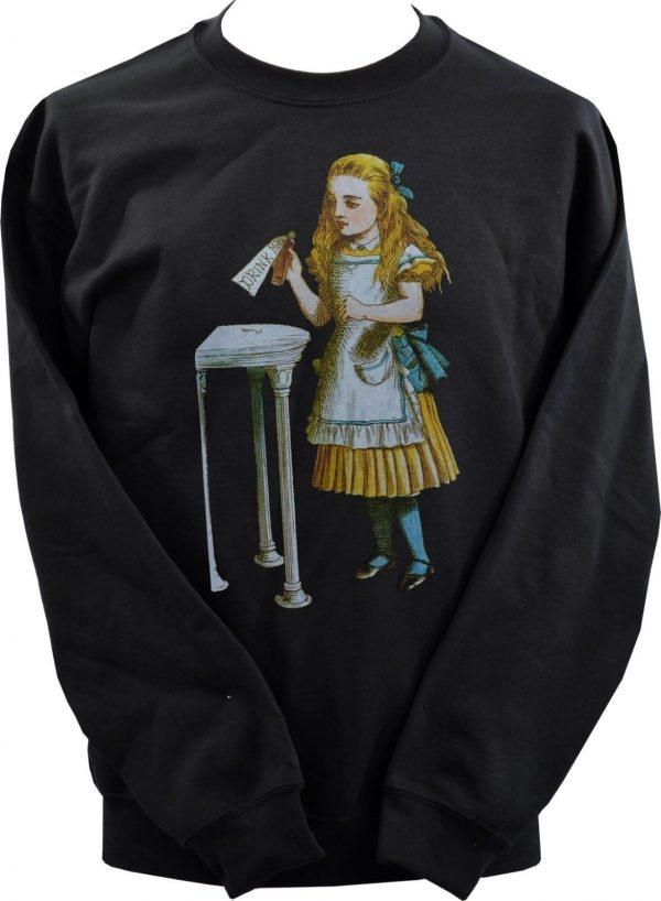 Alice In Wonderland Drink Me Bottle Unisex Sweatshirt