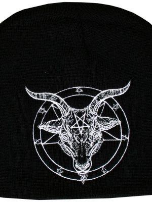 Baphomet Embroidered Ski Beanie