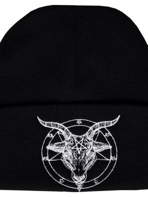 Baphomet Embroidered Beanie