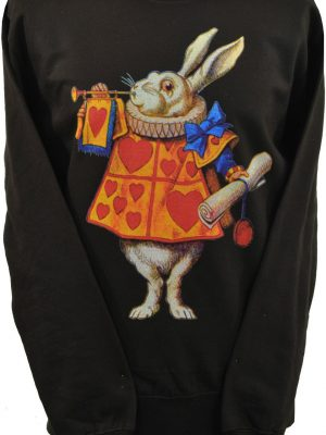 Alices Adventures In Wonderland White Rabbit Unisex Sweatshirt