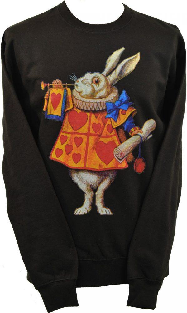 Alices Adventures In Wonderland White Rabbit Unisex Sweatshirt