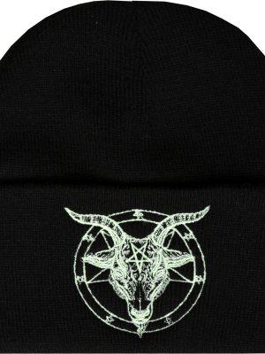 Baphomet Pentagram Embroidered Beanie