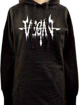 Death Metal Vegan Ladies Long Hoodie