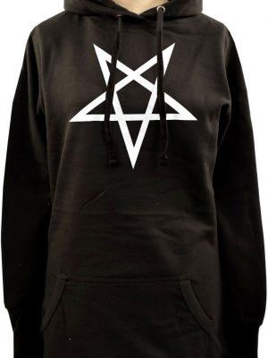 Reversed Pentagram Ladies Long Hoodie