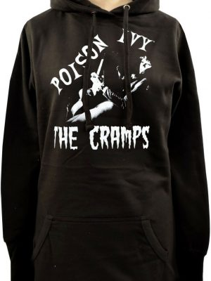 The Cramps Poison Ivy Ladies Long Hoodie