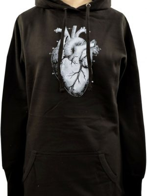 Anatomical Heart Ladies Long Hoodie
