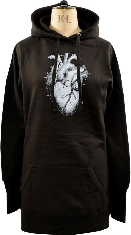 Anatomical Heart Ladies Long Hoodie