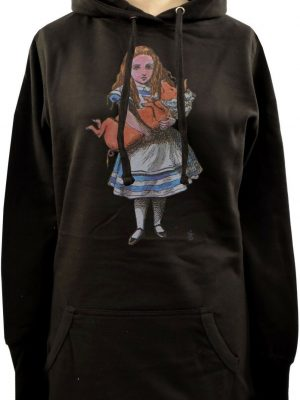 Alice's Adventures In Wonderland Pig Ladies Long Hoodie