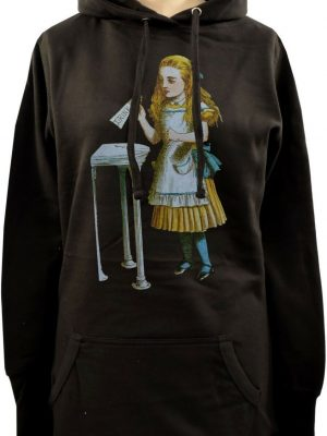 Alice In Wonderland Drink Me Bottle Ladies Long Hoodie
