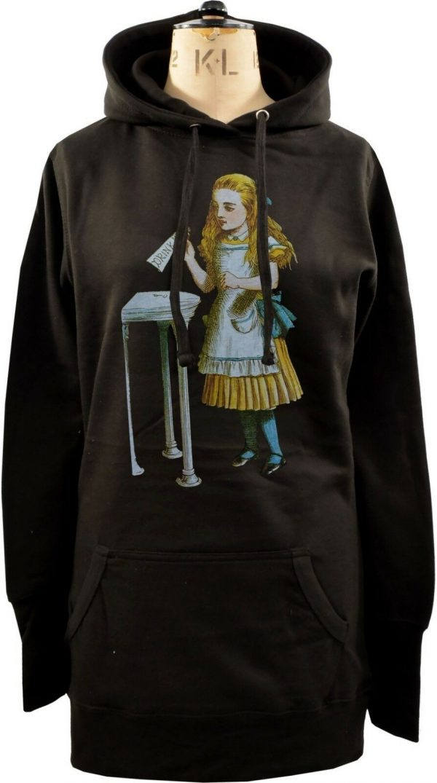 Alice In Wonderland Drink Me Bottle Ladies Long Hoodie