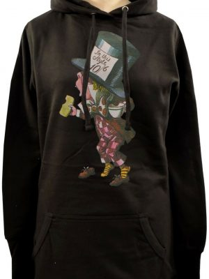 Alice In Wonderland Mad Hatter Ladies Long Hoodie