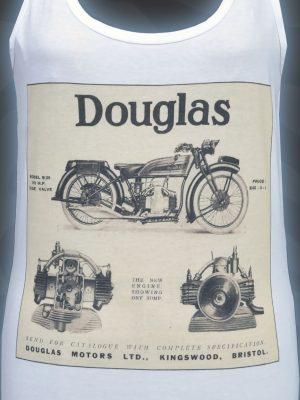 Douglas Motors Womens White Tank Top