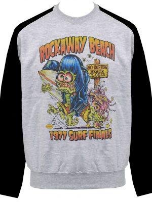 Rockaway Beach Unisex Raglan Sweatshirt