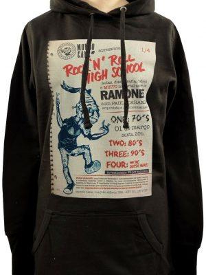 Ramones Rock & Roll Highschool Ladies Long Hoodie