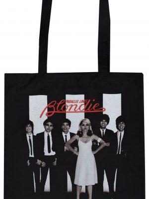 Blondie Parallel Lines Tote Bag