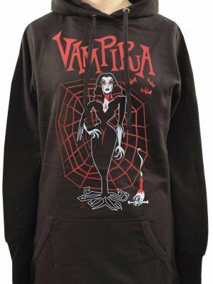 Vampira Red Ladies Long Hoodie