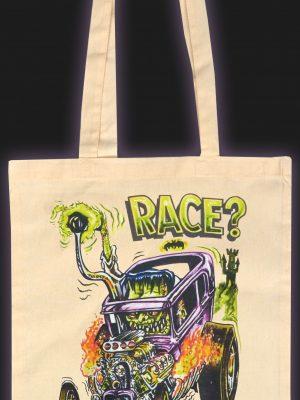 Wanna Race? Natural Cotton Tote Bag