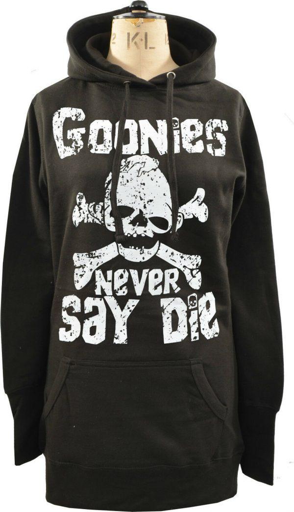 Goonies Never Say Die Ladies Long Hoodie