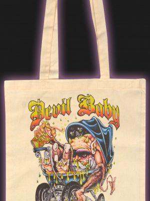 Devil Baby Natural Cotton Tote Bag