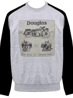 Douglas Engines Unisex Raglan Sweatshirt