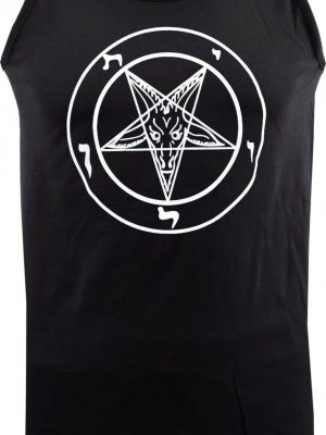 Baphomet Pentagram Mens Black Tank Top
