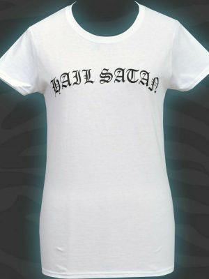 Hail Satan Womens White T-Shirt