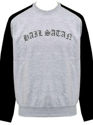 Hail Satan Unisex Raglan Sweatshirt