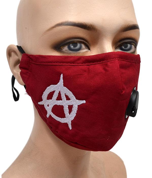 Anarchy Burgundy Face Mask