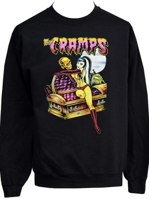 Unisex psychobilly zombie sweatshirt