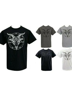 Mens Baphomet Pentagram T-Shirt