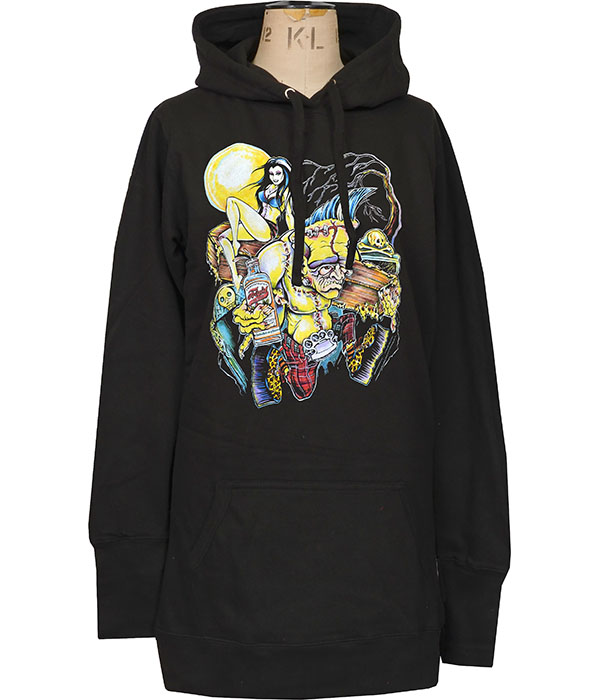 womens psychobilly monster hoodie